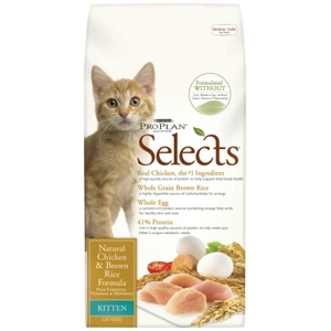 Pro Plan Selects Kitten Food Chicken & Brown Rice, 7 lb - 5 Pack
