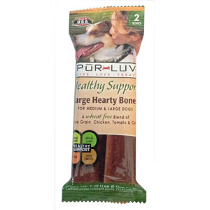 Pur Luv Healthy Support Large Hearty Chew Bones, 10 Bones | VetDepot.com