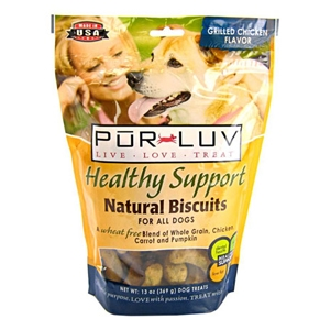 Pur Luv Healthy Support Natural Biscuits Chicken Flavor, 13 oz