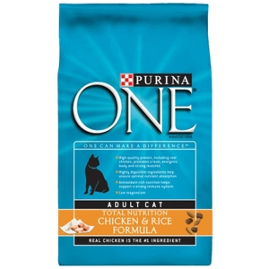 Purina One SmartBlend Cat Food Chicken & Rice, 7 lb - 4 Pack