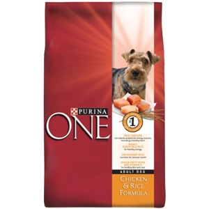 Purina One SmartBlend Dog Food Chicken & Rice, 18 lb