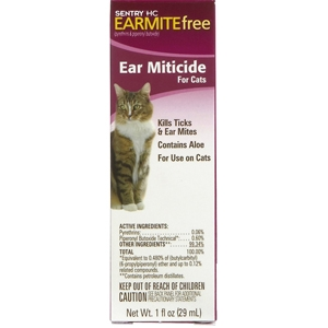 Sentry HC Earmite Free Ear Miticide for Cats, 1 oz | VetDepot.com