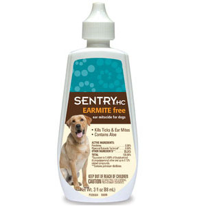 Sentry HC Earmite Free Ear Miticide for Dogs, 3 oz | VetDepot.com