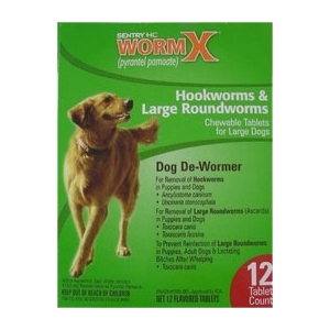 Sentry HC WormX Large Dog, 12 Chewable Tablets | VetDepot.com