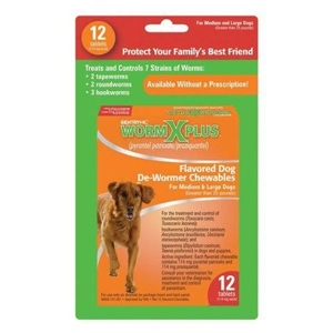Sentry HC WormX Plus Large Dog, 12 Chewable Tablets | VetDepot.com
