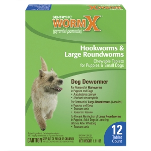 Sentry HC WormX Small Dog, 12 Chewable Tablets | VetDepot.com