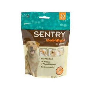 Sentry Medi-Wraps Chicken Flavor, 30 Treats | VetDepot.com