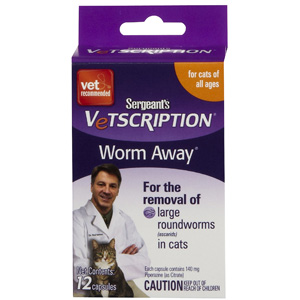Sergeants Vetscription Worm Away for Cats, 12 Capsules | VetDepot.com
