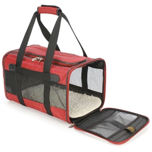 Sherpa Original Deluxe Carrier Red & Black, Small
