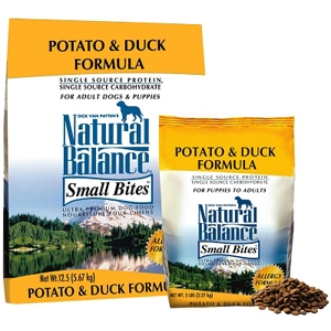 Small Breed Bites Potato & Duck Dog Food, 5 lb - 6 Pack