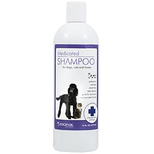 Sogeval Chlorhexidine 4% Shampoo for Dogs, Cats, and Horses, 8 oz