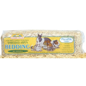 Sunseed Shredded Aspen Bedding, 1000 cubic in