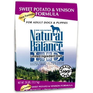 Sweet Potato & Venison Formula Dog Food, 28 lb