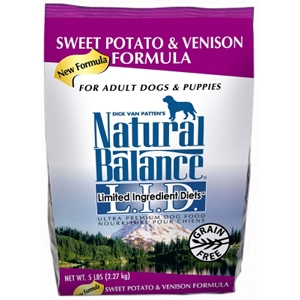 Sweet Potato & Venison Formula Dog Food, 5 lb - 6 Pack