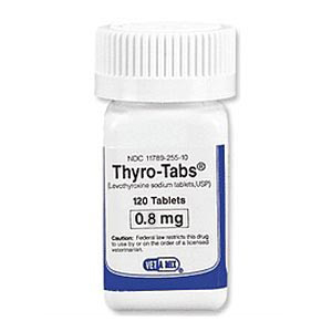 Thyro-Tabs for Dogs 0.8 mg, 120 Caplets (levothyroxine)