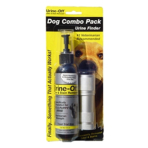 Urine-Off Dog Combo Pack, Urine Finder + Urine-Off Odor & Stain Remover, 4 oz