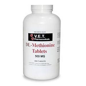 V.E.T. Pharmaceuticals DL-Methionine 500 mg, 1000 Tablets