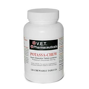 V.E.T. Pharmaceuticals Potassa-Chew, 120 Chewable Tablets