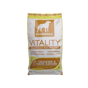 Vitality Chicken & Oats Dog Food, 22.5 lb