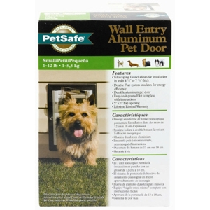 Wall Entry Aluminum Pet Door, Small
