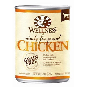 Wellness 95% Chicken Dog Food, 13.2 oz - 12 Pack