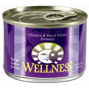 Wellness Chicken & Sweet Potato Dog Food, 6 oz - 24 Pack