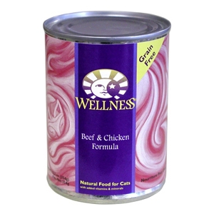 Wellness Complete Health Cat Food Beef & Chicken, 12.5 oz - 12 Pack