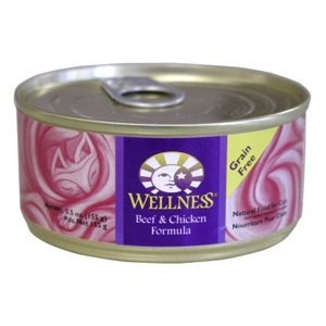 Wellness Complete Health Cat Food Beef & Chicken, 5.5 oz - 24 Pack