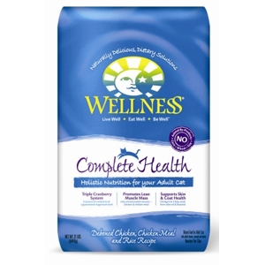 Wellness Complete Health Cat Food Chicken & Rice, 12 lb