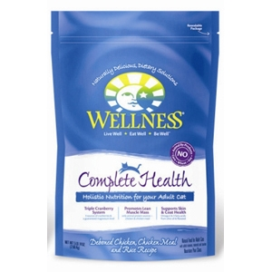 Wellness Complete Health Cat Food Chicken & Rice, 5.8 lb - 4 Pack