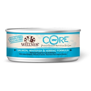 Wellness Core Cat Food Salmon, Whitefish & Herring, 5.5 oz - 24 Pack