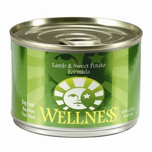 Wellness Lamb & Sweet Potato Dog Food, 6 oz - 24 Pack