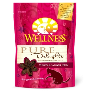 Wellness Pure Delights Turkey & Salmon Jerky, 3 oz - 8 Pack