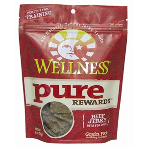 Wellness Pure Rewards Beef Jerky, 6 oz - 8 Pack