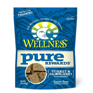 Wellness Pure Rewards Turkey & Salmon Jerky, 6 oz - 8 Pack