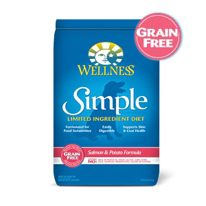 Wellness Simple Food Solutions Salmon & Potato Dog Food, 26 lb