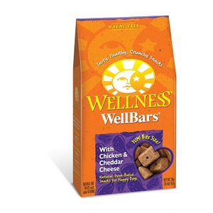 Wellness WellBars Chicken & Cheddar Dog Biscuits, 20 oz - 6 Pack