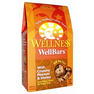 Wellness WellBar Crunchy Peanuts & Honey Dog Biscuits, 20 oz - 6 Pack
