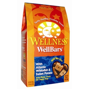 Wellness WellBars Whitefish & Sweet Potato Dog Biscuits, 20 oz - 6 Pack