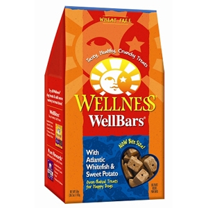 Wellness WellBars Whitefish & Sweet Potato Dog Biscuits, 50 oz - 4 Pack