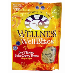 Wellness WellBites Beef & Turkey Dog Treats, 8 oz - 8 Pack