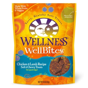 Wellness WellBites Chicken & Lamb Dog Treats, 8 oz - 8 Pack