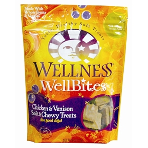 Wellness WellBites Chicken & Venison Dog Treats, 8 oz - 8 Pack