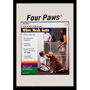 "Wood Frame Wire Mesh Gate, 29.5"" x 44"""