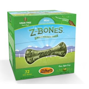 Z-Bone Dental Treats Clean Apple Crisp Mini, 72 ct