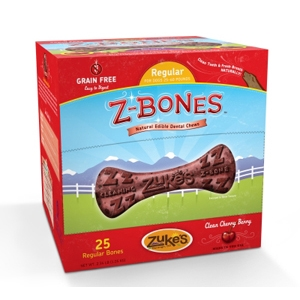 Z-Bone Dental Treats Clean Cherry Berry Regular, 25 ct