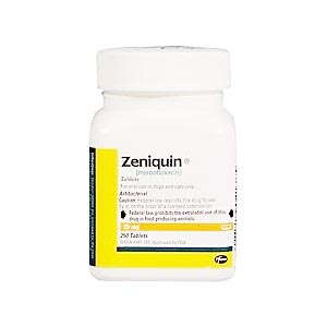 Zeniquin 25 mg, 250 Tablets (marbofloxacin)
