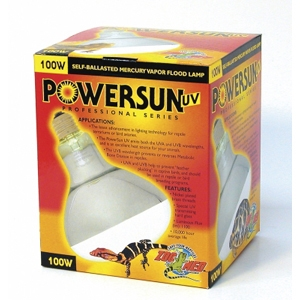 Zoo Med PowerSun UV Lamp, 100W