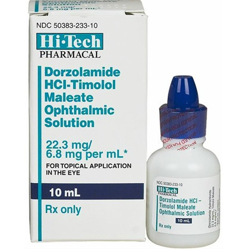 Dorzolamide Hcl 2 Timolol Maleate 0 5 Ophthalmic