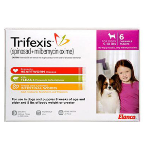 Trifexis For Dogs 5 10 Lbs 6 Chewable Tablets Pink